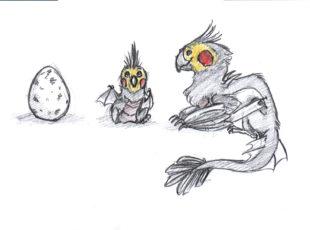 æg tegnet af Sabrina